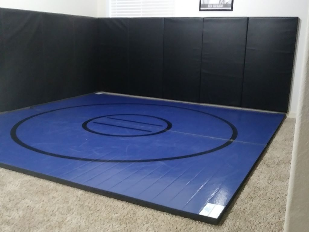 Instant Wrestling Room 10 X 10 Wrestling Mat And Removable Folding Wall Pads Package Wrestling Mat Folding Walls Home Gym Design