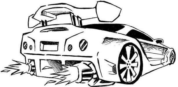 Desenhos De Carros Tunados Turbinados E Hot Wheels Para Pintar