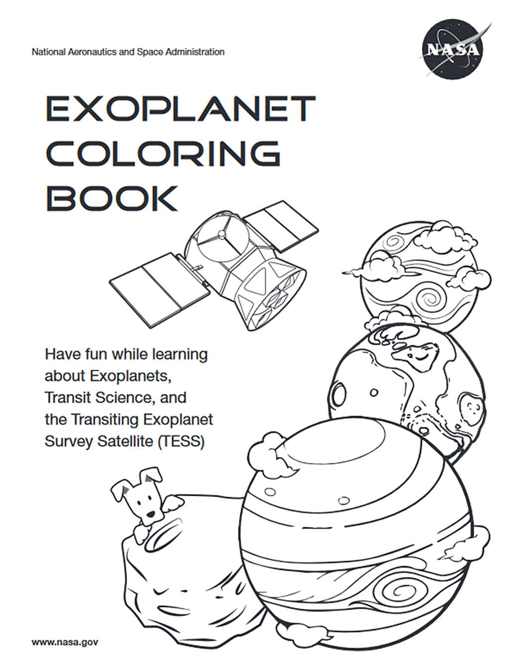 Exoplanet Coloring Book | NASA in 2020 | Coloring books ...