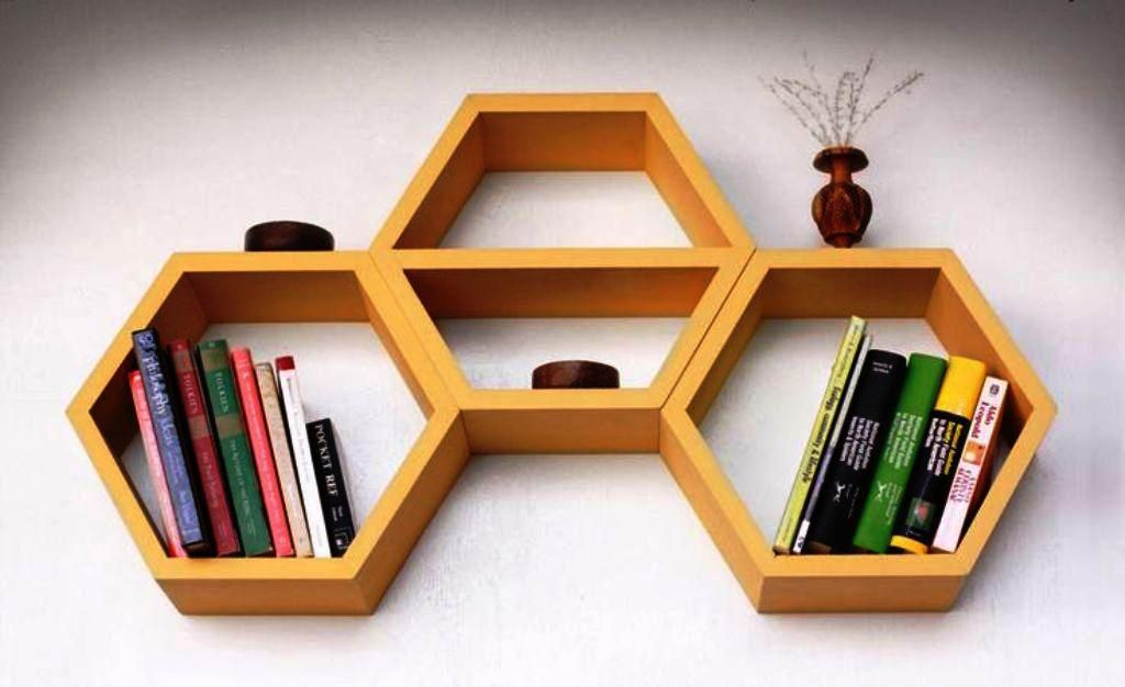 Honeycomb Shelves IKEA Book Storage OrganizationBook Organization