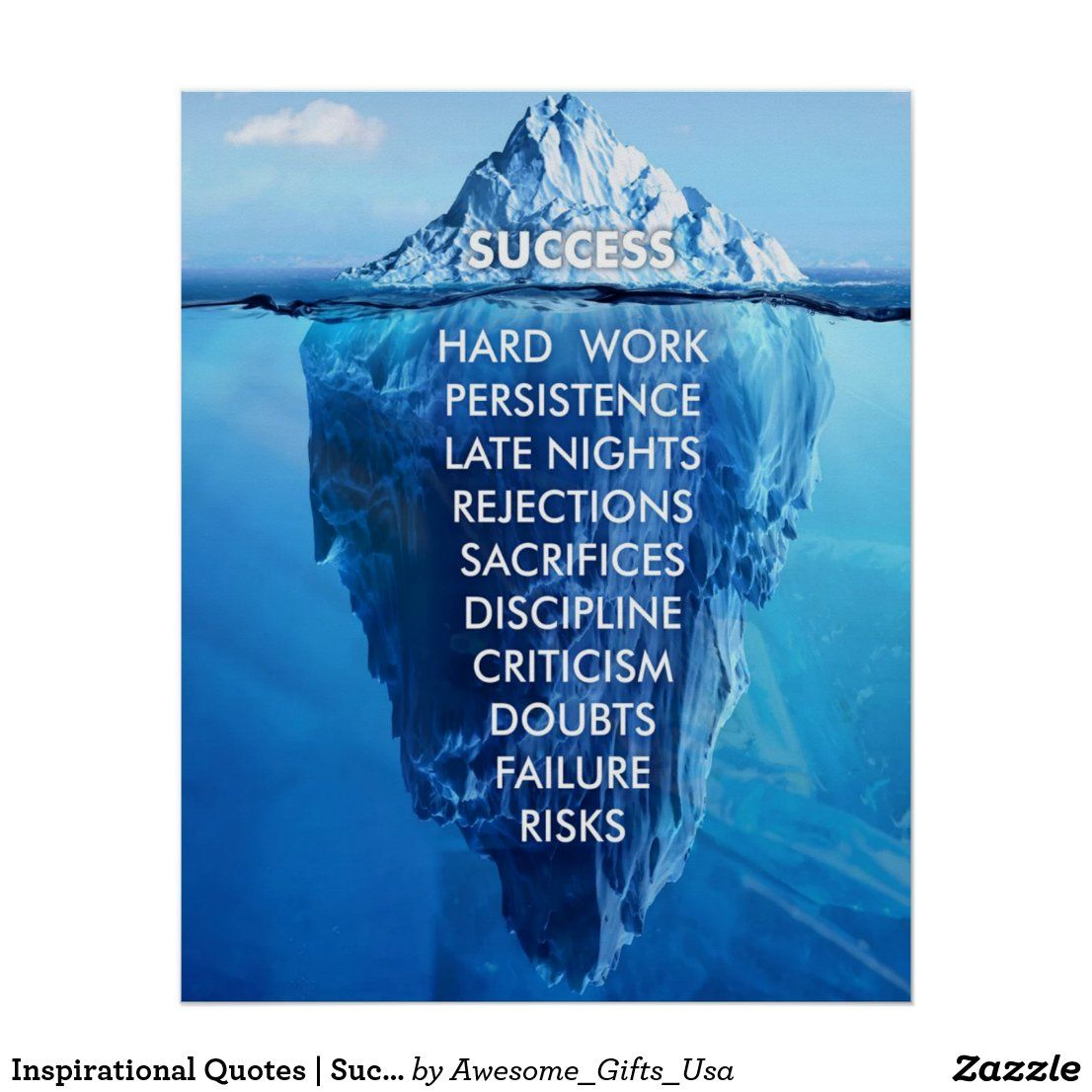 inspirational quotes success iceberg