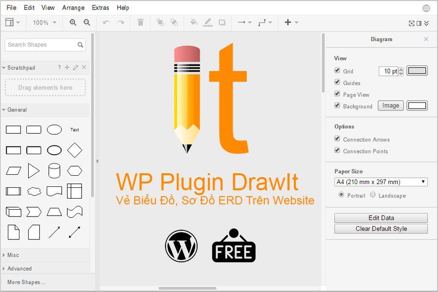 PluginDrawIt được phát triển bởidraw.io với tiện ích vẻ sơ đồ ERD, biểu đồ ngay trên website mà không cần dùng đến phần mềm cài đặt trên PC,DrawIt cho phép Adminsoạn thảo bài viết wordpress thêm môt sơ đồ,… thật linh hoạt trong website của mình. I. Giới thiệu PluginDrawIt WP DrawIt là một plugin …
