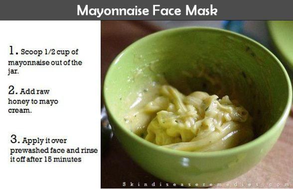 mayonnaise on your face