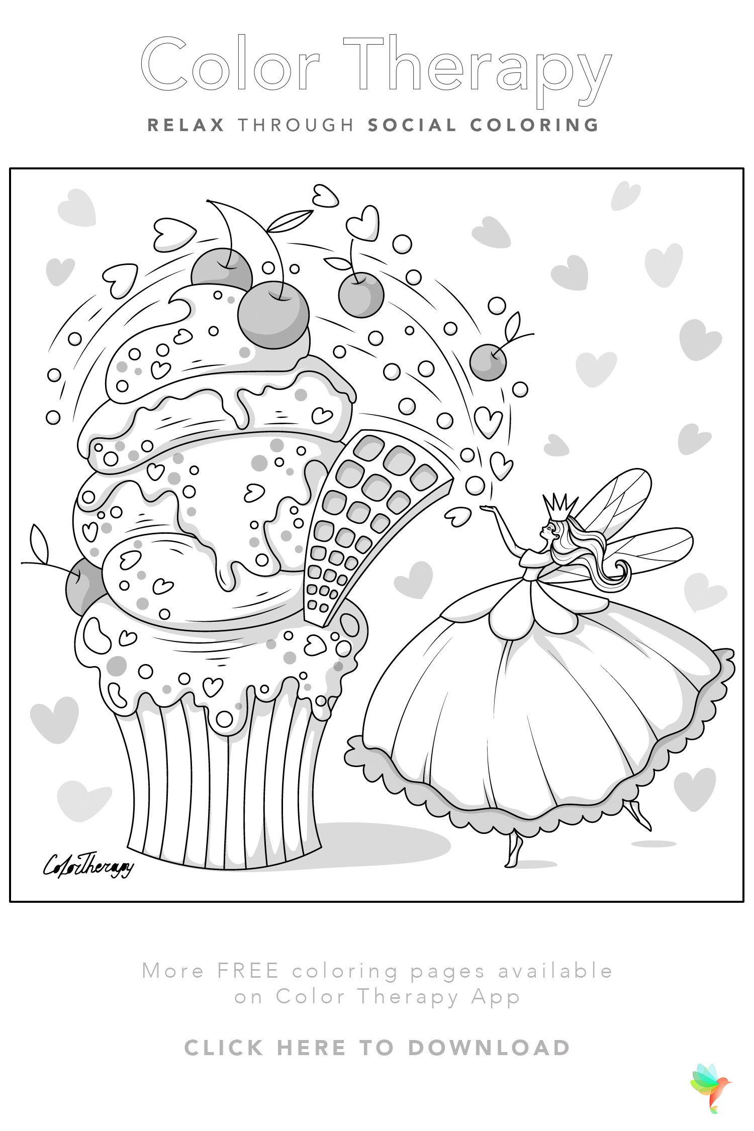 Color Therapy Gift Of The Day Free Coloring Template Color Therapy Free Coloring Pages Coloring Pages