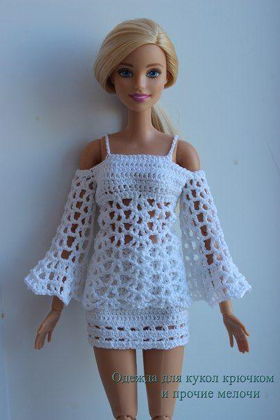 вязание одежда для барби видео