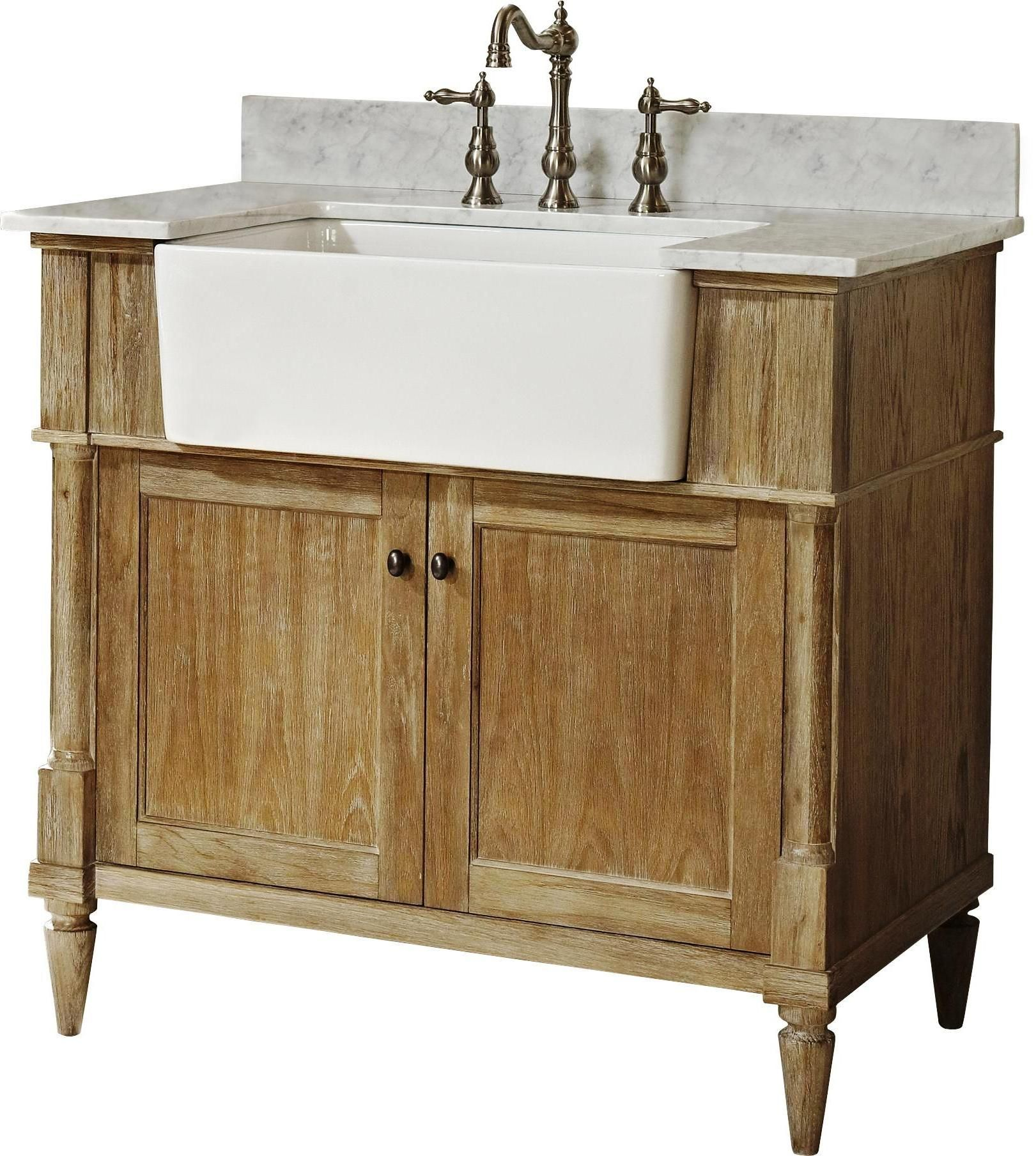 Reclaimed Barn Wood Open Vanity Rustic Bathrooms Bathroom