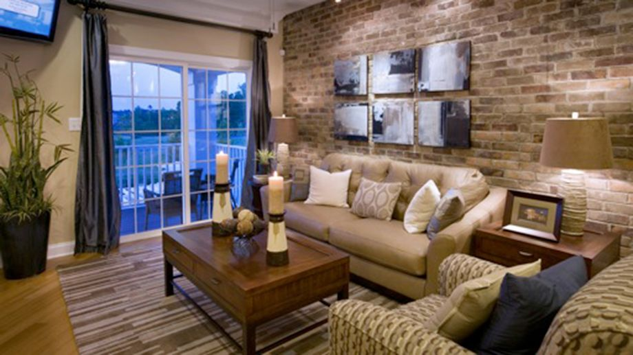 Toll brothers metro style living room living spaces for Walls brothers designer kitchens