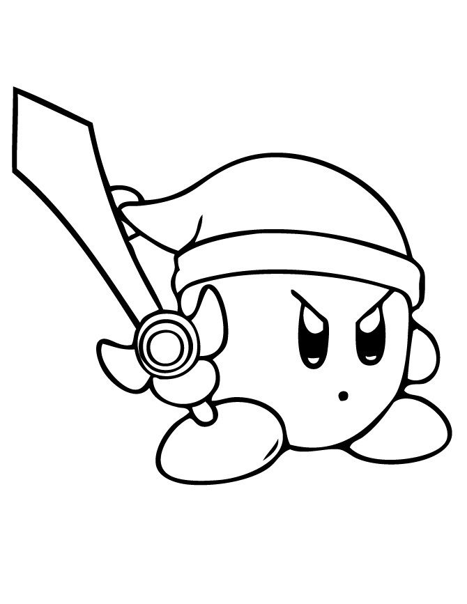 Free Printable Kirby Coloring Pages For Kids | Video Game Coloring