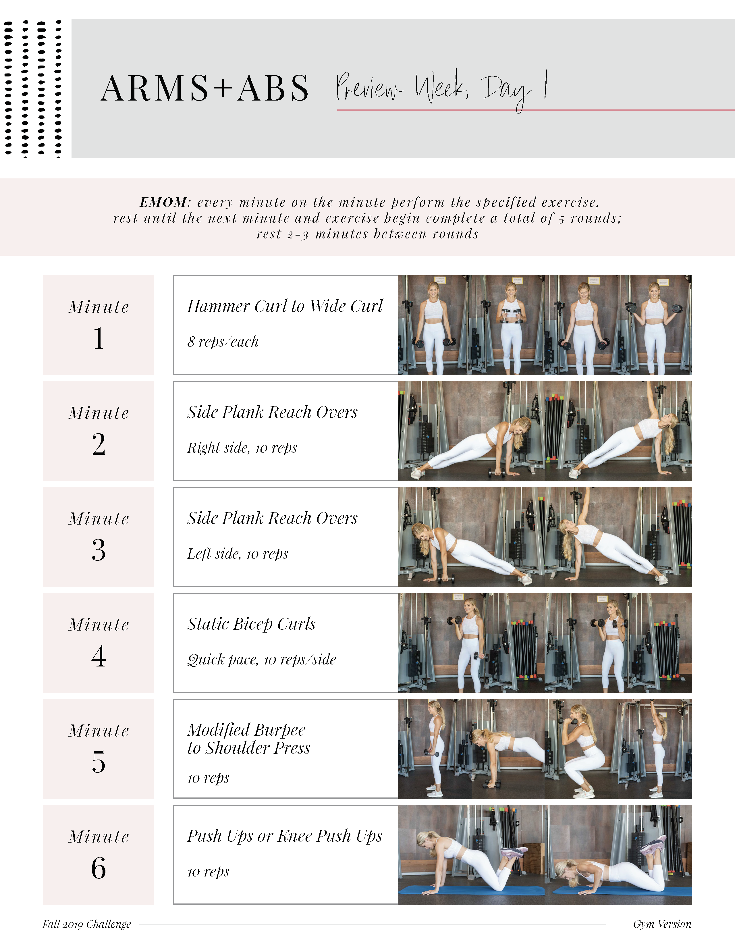 Fall Challenge Preview Week: Arms + Abs Workout (Day 1) - Lauren Gleisberg