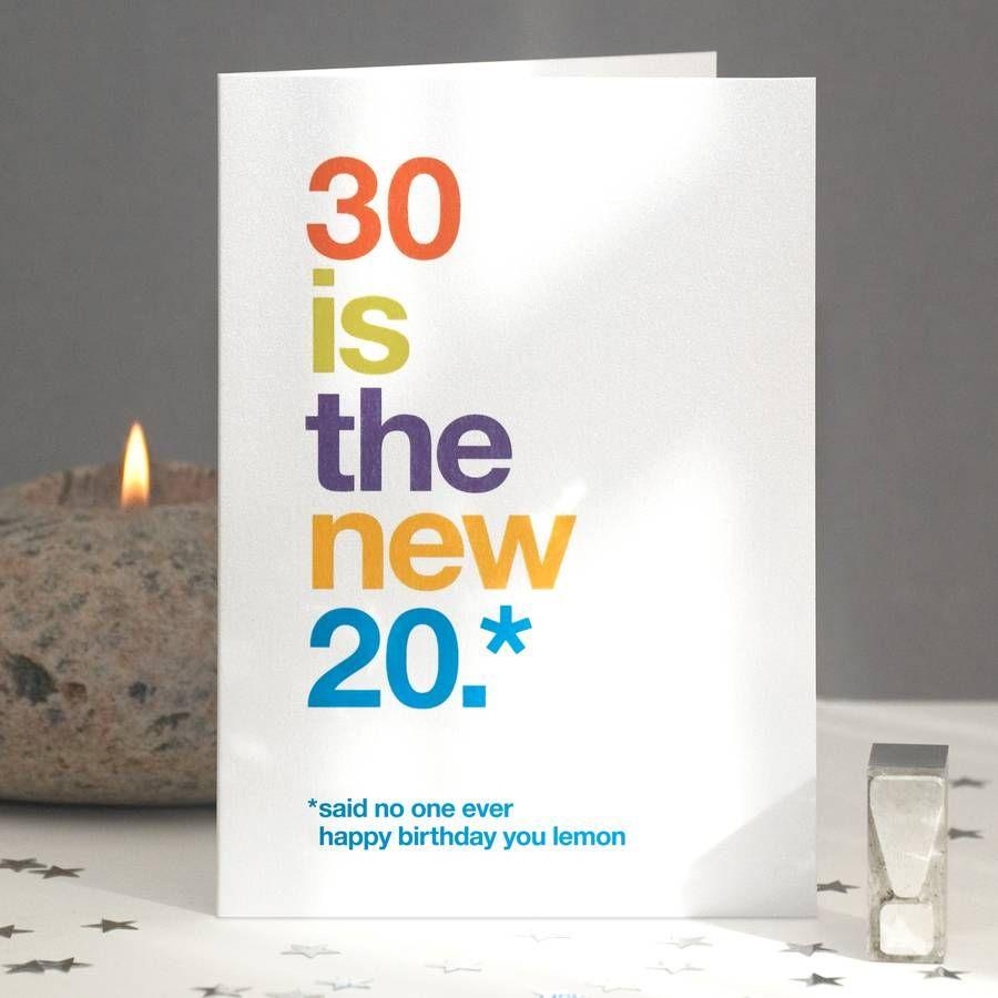 30th birthday card ideas