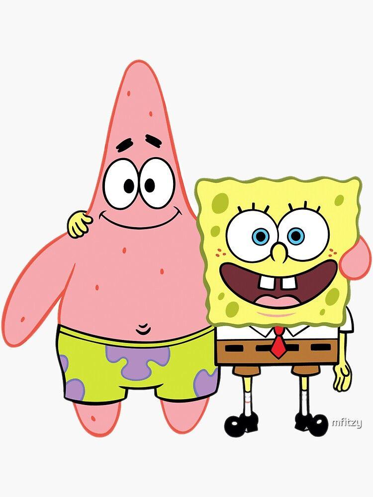 Spongebob And Patrick Sticker by mfitzy