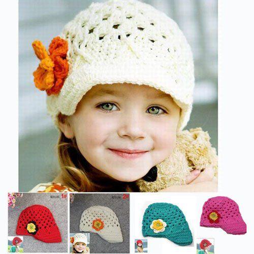 Handmade-baby-flower-hat-children-knitted-hat-infant-crocheted ...