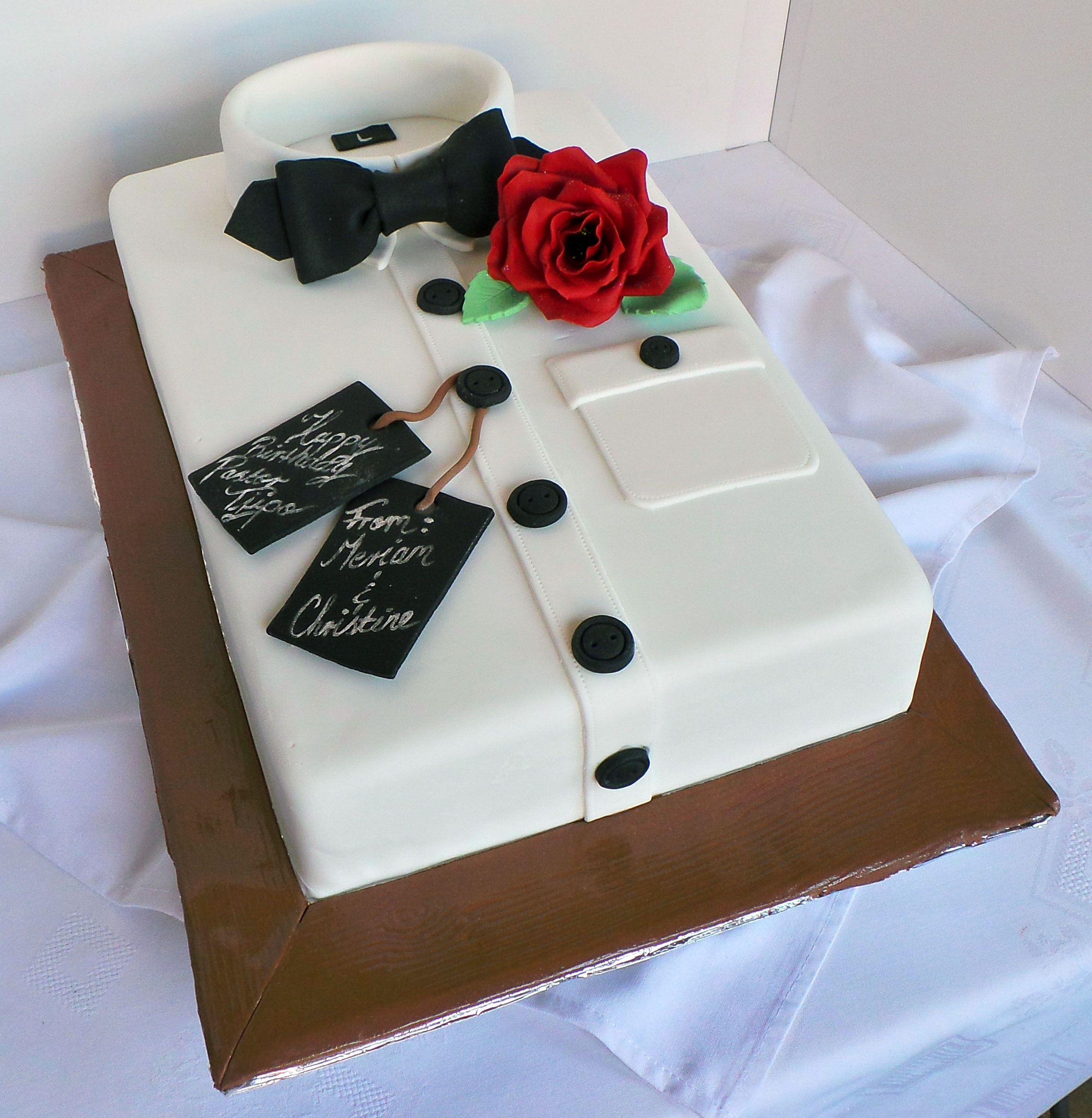 Beautiful Wedding Cakes By The Baking Grounds Bakery Café: Men's Shirt Birthday Cake (With Images)