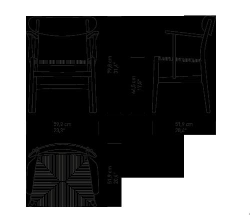 Ch26 Dining Chair By Hans J Wegner Carl Hansen Son Furniture Details Blueprints