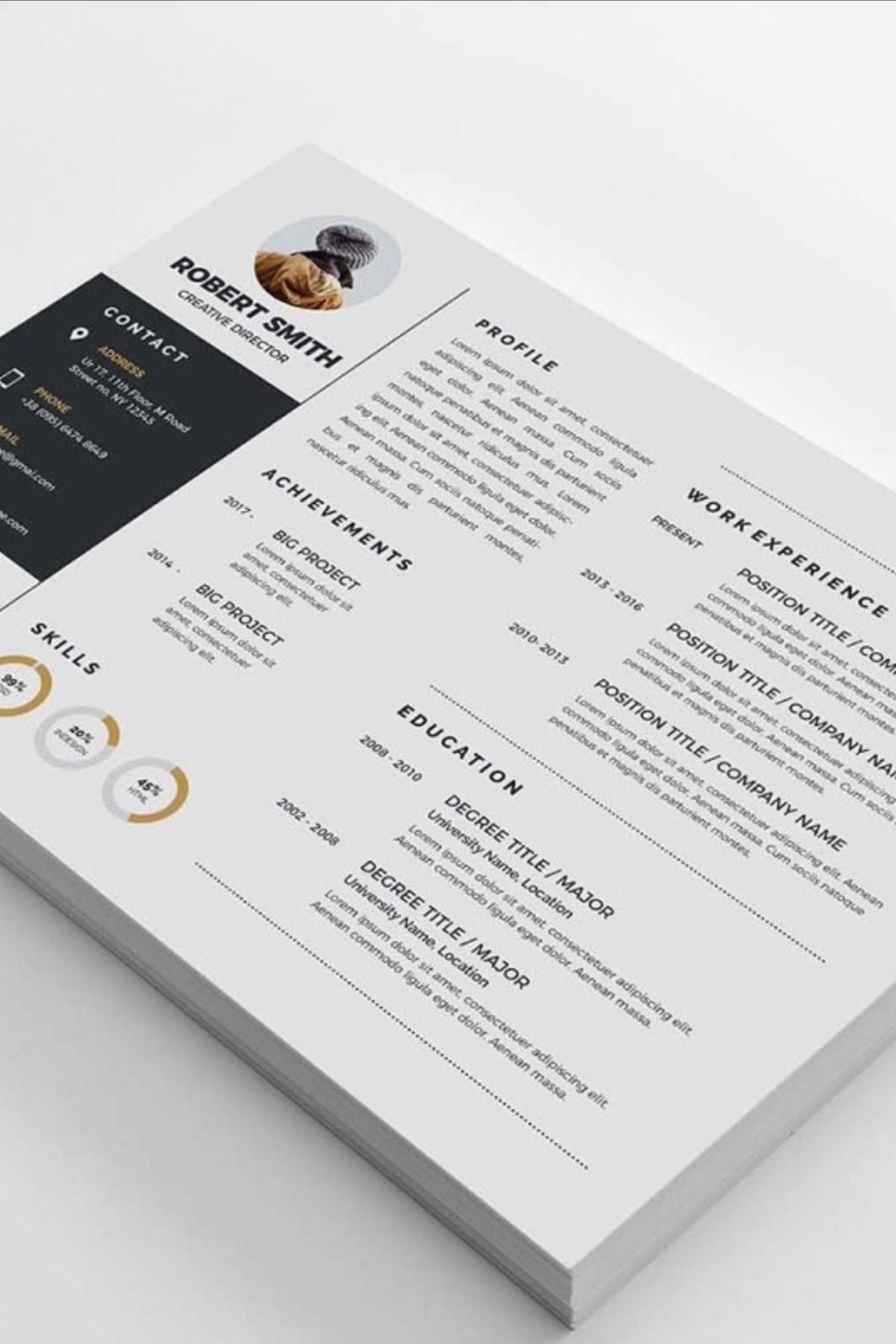 Landscape Resume in 2020 Infographic resume, Simple