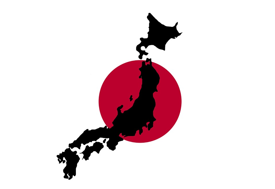 Free Image On Pixabay Japan Japanese Map Flag Red Jepang Peta Dunia