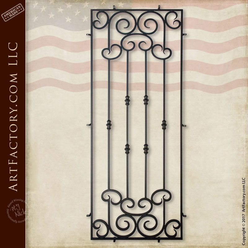 Custom Iron Security Grill: Decorative Door Grills In Any