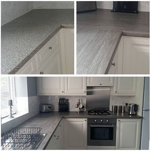 Repost For The Love Of All Thingsgrey Worktop Before And After Dcfix For A More Contemporary Look Un Kitchen Design Small Kitchen Layout Dc Fix Kitchen