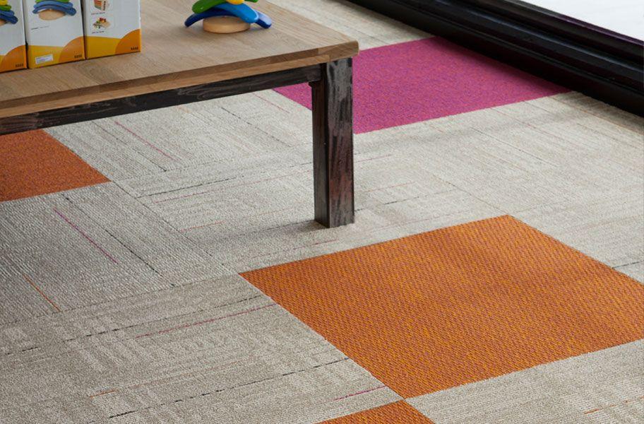 The Brights Carpet Tile Carpet Tiles Basement Flooring Options Best Flooring For Basement