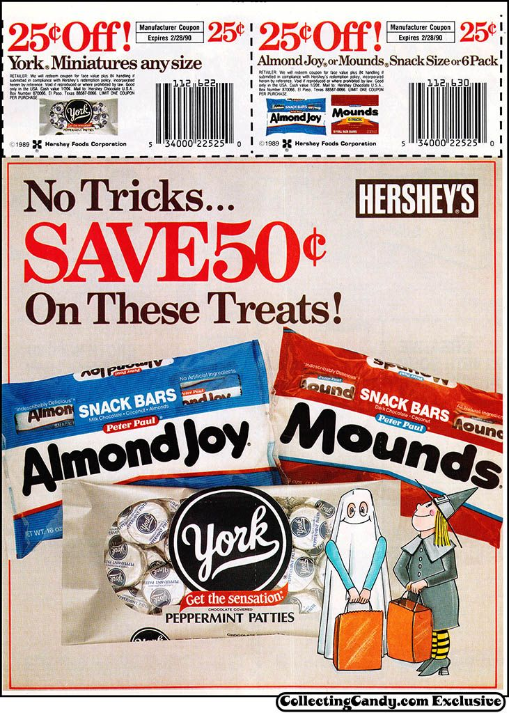 Hershey's Almond Joy Mounds York Halloween candy