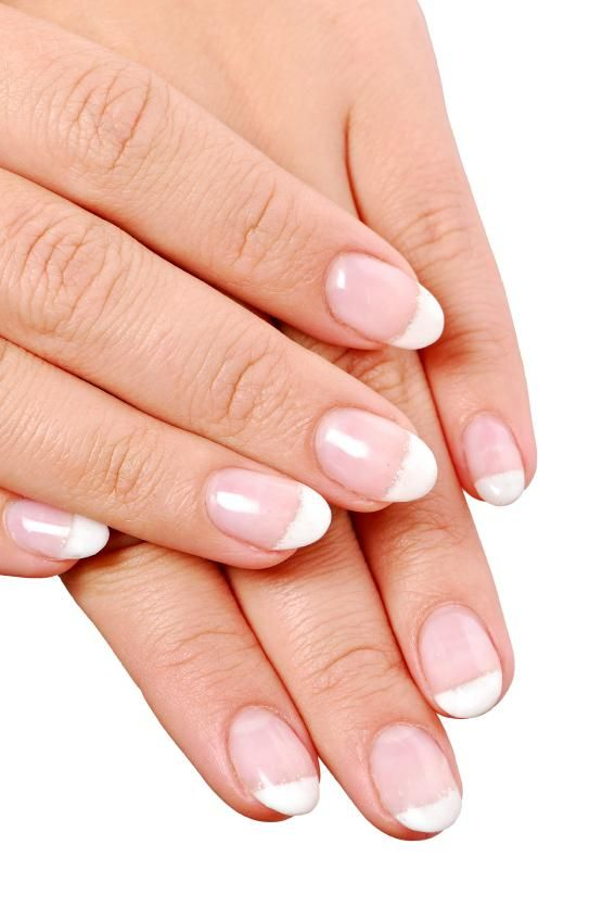 Manicure With Round Tips Acrylic Nails French