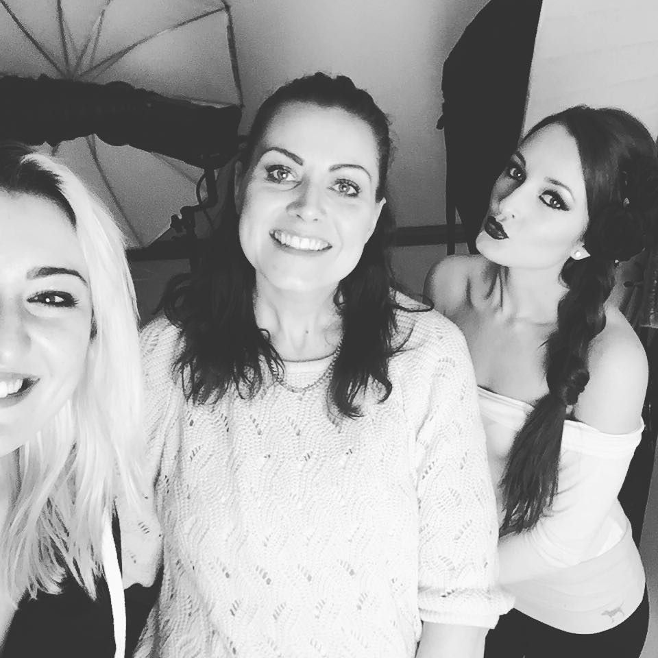 Us #ladies during today's #photoshoot #selfie #love these girls! @helen_pearson_mua #makeup #inspiration by kerarobson