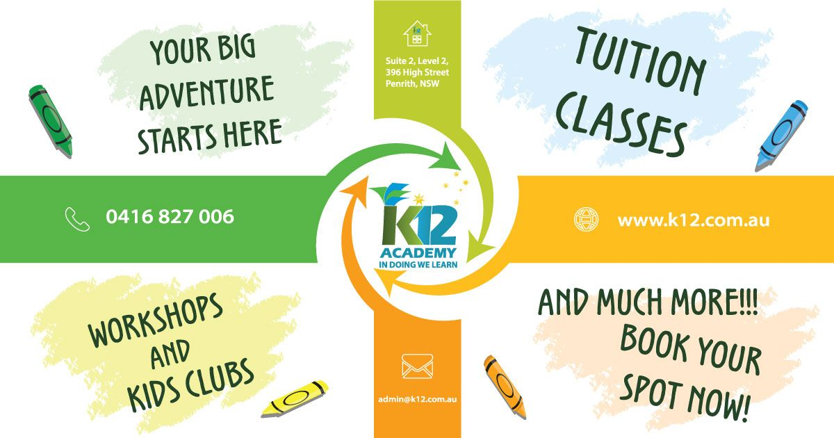 At K12 academy our team offers tutoring services for all ages, from ...