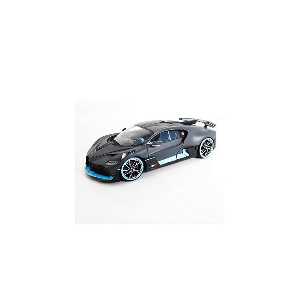 Bugatti Divo Matt Gray With Blue Accents 1 18 Diecast Model Car By Bburago 11045 Di 2020