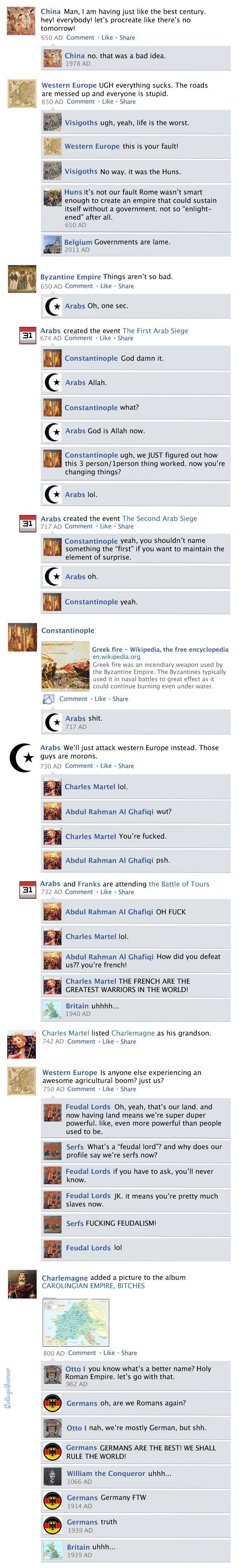 If The Universe Had A Facebook Newsfeed, This Is What It Would Look Like #historyoftheworld