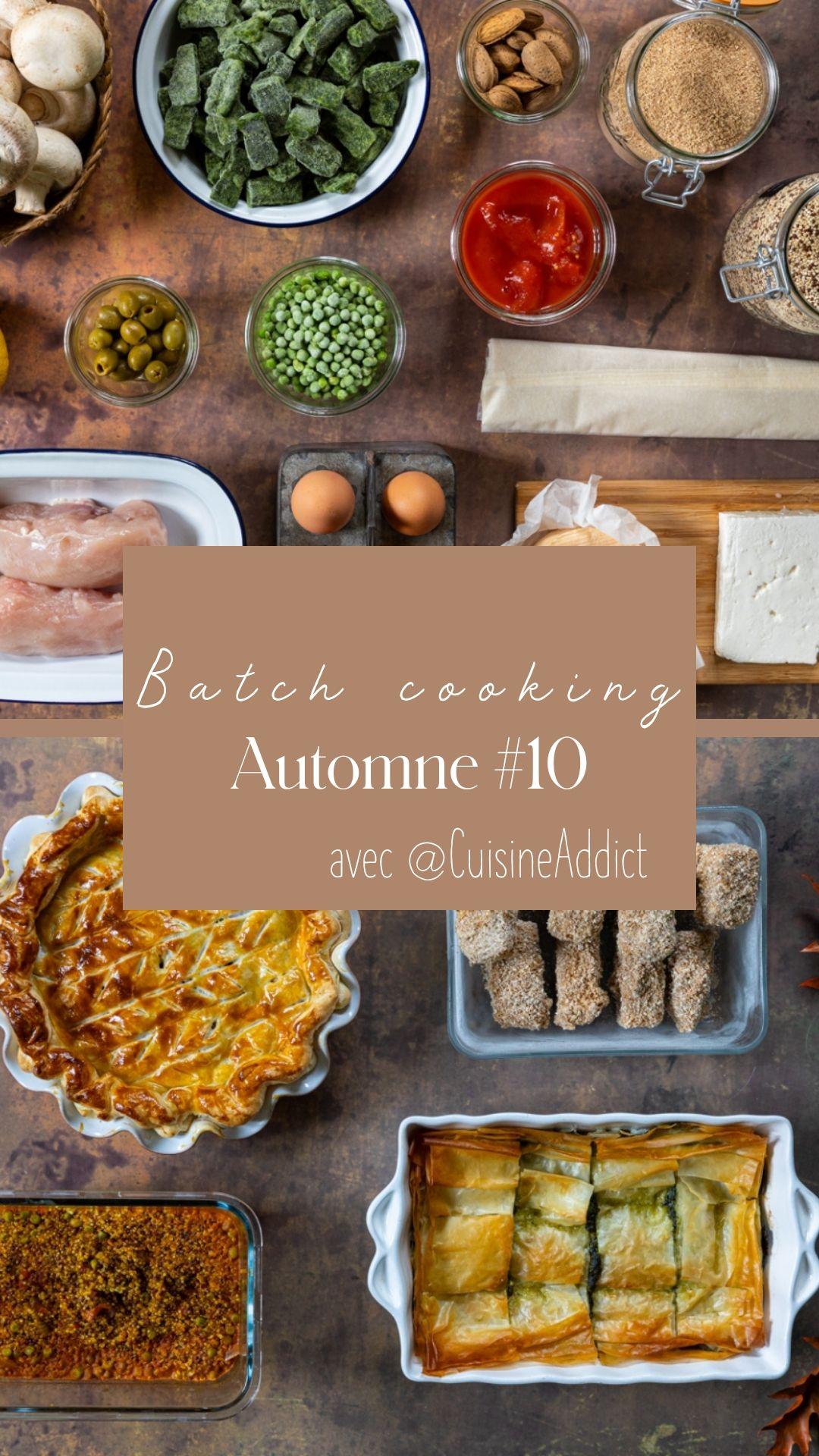 Batch cooking Automne 12 bis – Mois de Novembre 12 – Semaine 12 ...