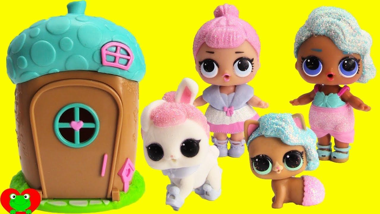 Lol Surprise Pets Transform Into Lol Dolls In Woodzeez House Dolls