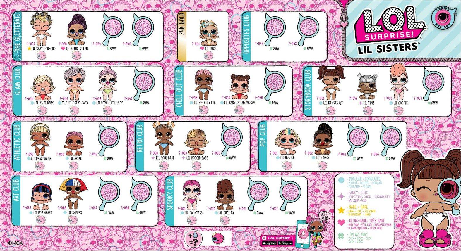 Lol Surprise Series 4 Eye Spy Lil Sisters Collector Guide List Checklist Kids Time Lil Sister Lol Dolls Sister Dolls