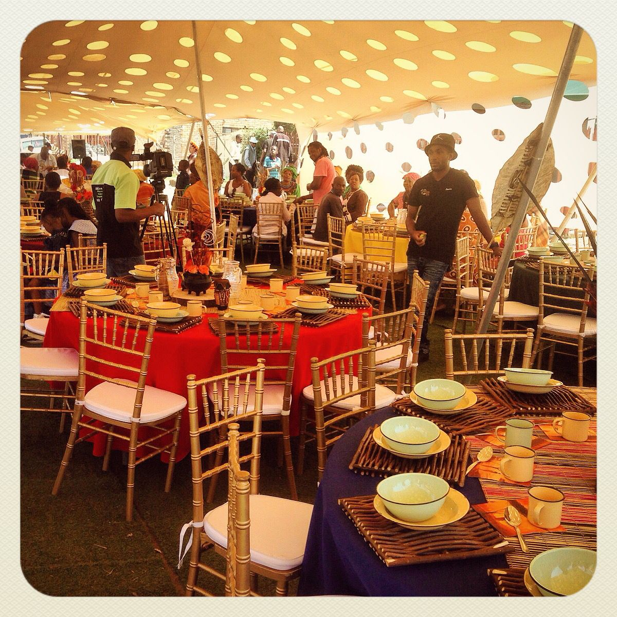 traditional african wedding centerpieces and decor. www.facebook
