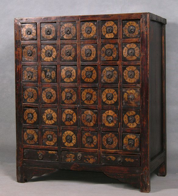 Antique Chinese apothecary/herb cabinet. - Li9037-antique-chinese-apothecary-herb-cabinet In 2019 Stylish