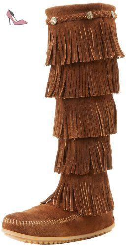 dfef263ed6410 Minnetonka 165, Bottes Indiennes Femme, Marron (Dusty Brown), 38 EU ...