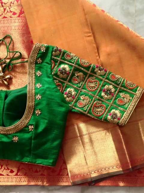 Top Beautiful Mirror work Blouse Designs Latest designs :- Mirror ...