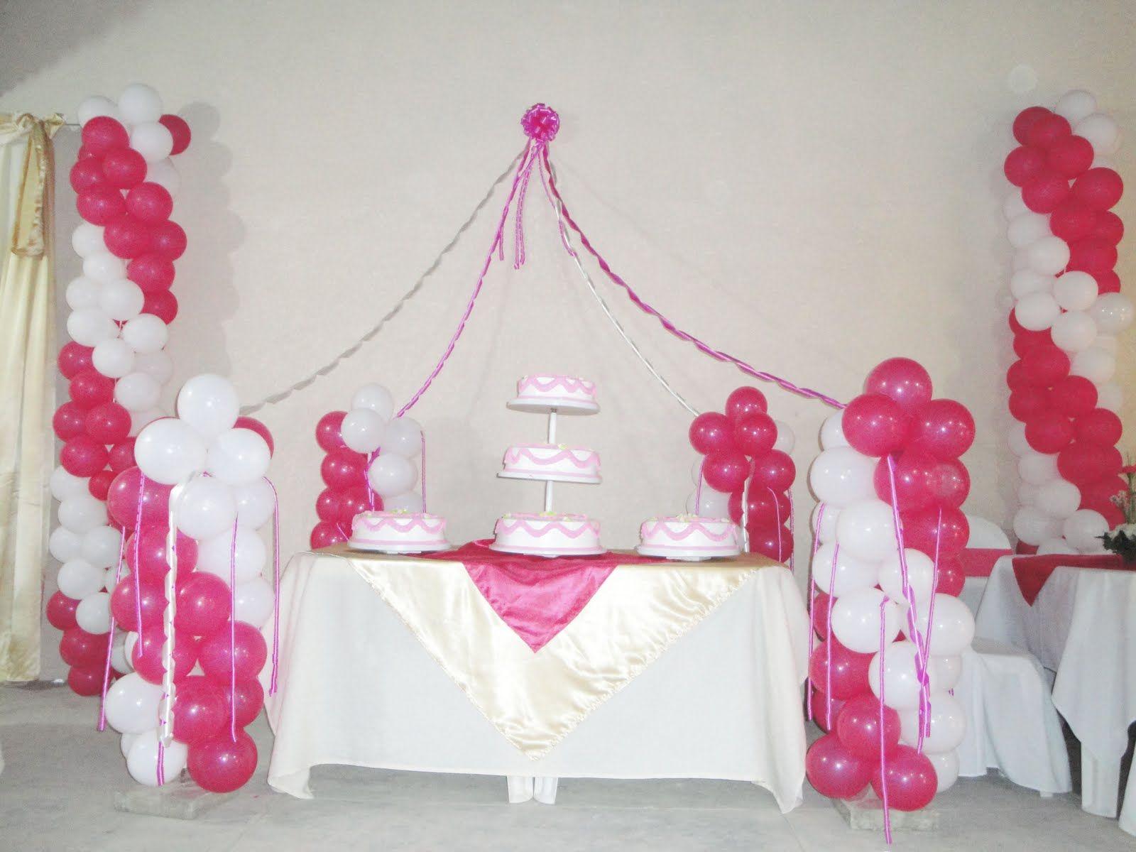 Decoracion para una quinceanera una opci n para adornar - Decoracion de globos ...