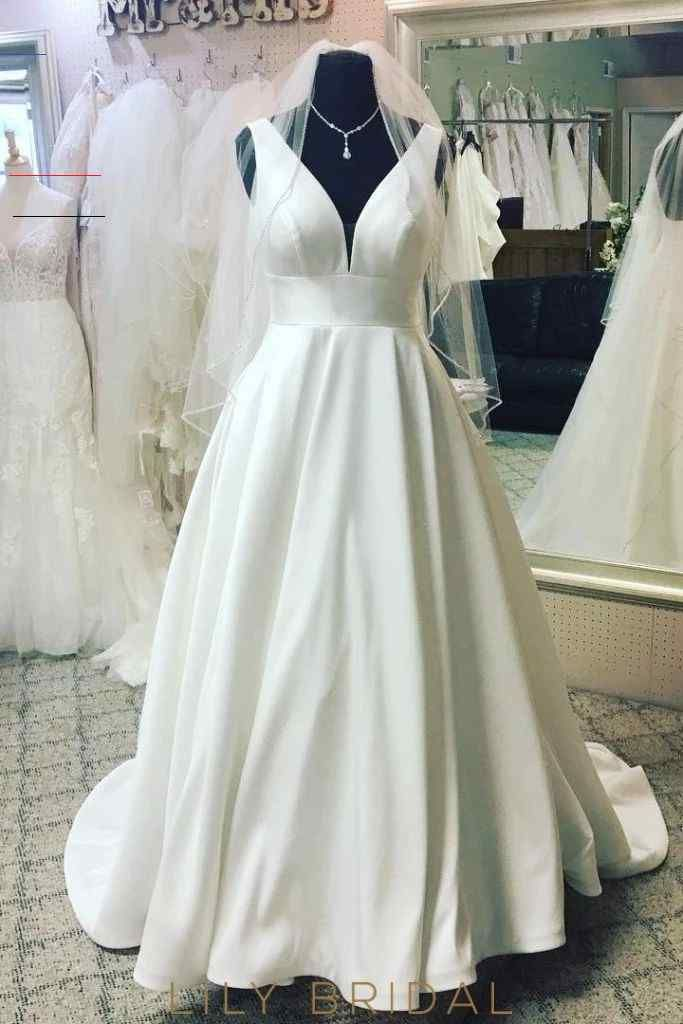 Elegant Plunge Neck Sleeveless Backless Long Solid Satin Wedding Gown – LilyBridal <a class=pintag href=/explore/dress/ title=#dress explore Pinterest>#dress</a> <a class=pintag href=/explore/fashion/ title=#fashion explore Pinterest>#fashion</a> <a class=pintag href=/explore/homedecor/ title=#homedecor explore Pinterest>#homedecor</a> <a class=pintag href=/explore/lifequotes/ title=#lifequotes explore Pinterest>#lifequotes</a> <a class=pintag href=/explore/frases/ title=#frases explore Pinteres