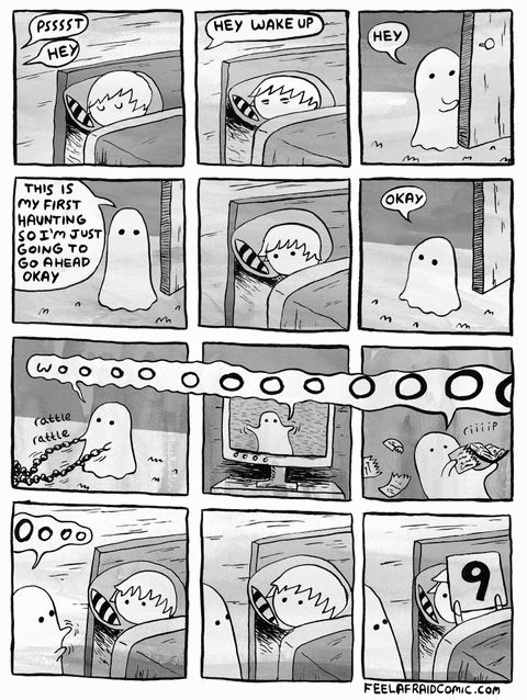Image result for cute ghost comic