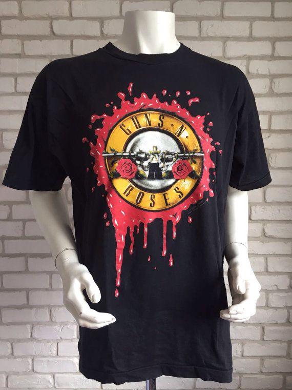 50c272e0d Original brockum vintage guns n roses 1991 tour t shirt   Guns N Roses    Guns n roses shirt, Tour t shirts, Guns n roses