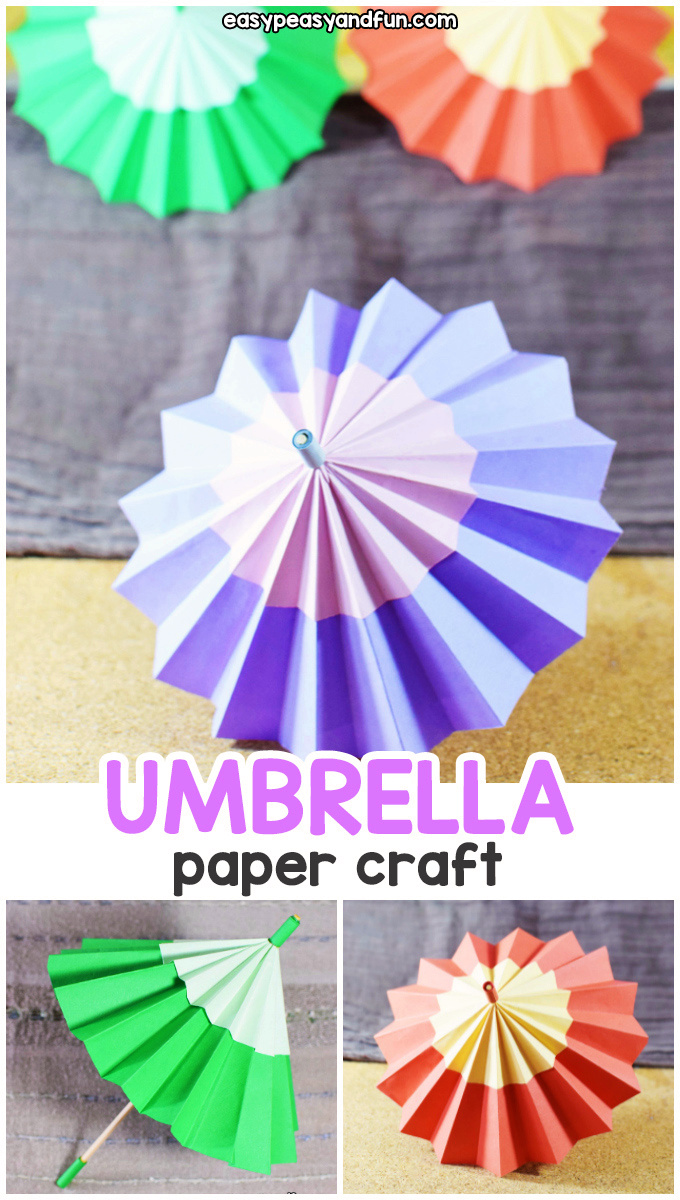 Paper Umbrella Craft For Kids A Fun Rainy Day Idea Umbrella Craft Paper Umbrellas Origami Crafts
