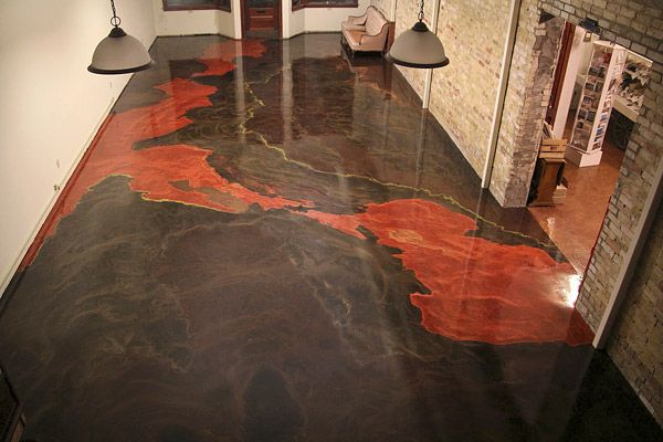 A Metallic Epoxy Concrete Floor In A Michigan Art Gallery
