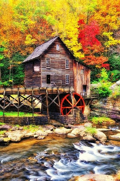 What a colorful masterpiece this fall landscape photo is.  Take a look and you be the judge