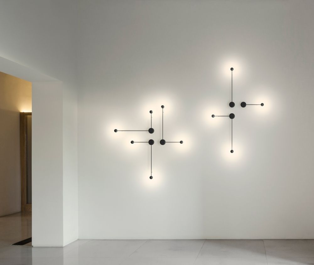 Exceptional Contemporary Wall Light / Lacquered Metal / LED / Green PIN By Ichiro  Iwasaki VIBIA