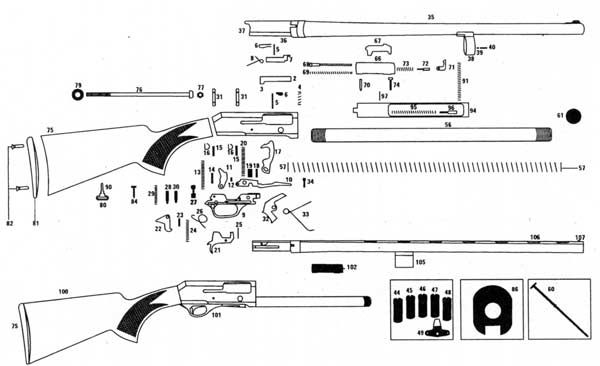 workings of a pump action shotgun - Google Search
