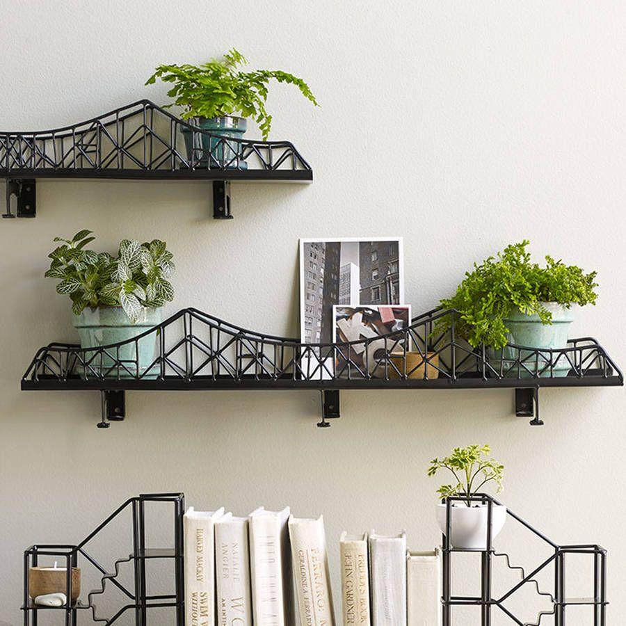 Iron bridge shelf unit epoxy coating epoxy and shelves