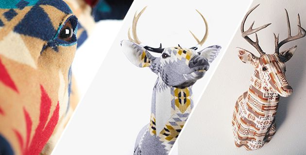 Modern Fabric Stag's Head   Chase Halland