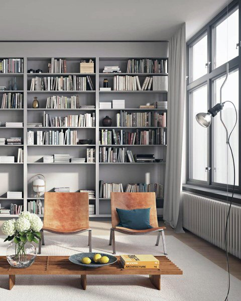 Top 70 Best Floor To Ceiling Bookshelves Ideas Wall Storage
