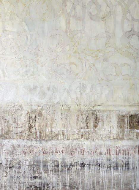 "Melanie Millar   Tidal 2, acrylic, oil on canvas, 66""x48"""