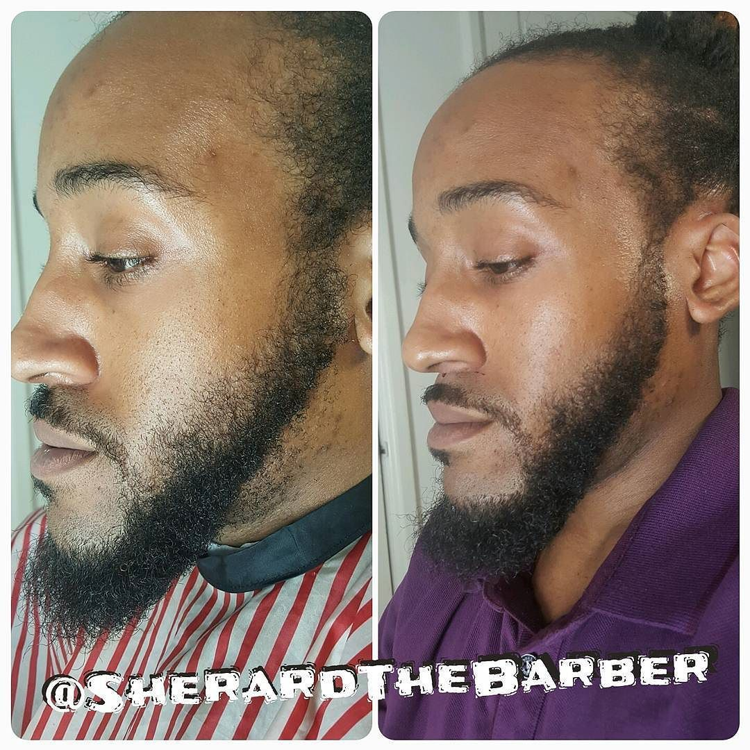 Follow @SherardTheBarber too! Gentleman getting cleaned up for #mothersday weekend.  Click link in bio for appointment booking and prices. #barberstylist #shapeup #edge #facialhair #beard #goatee #goatee #mustache #mensgrooming #gentleman #lineup #babershop #barberhub #barbering #dmvbarber #dmvartist #dcbarber #202 by sherardthebarber